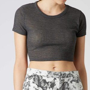 NWT Topshop Ribbed Cropped Tee